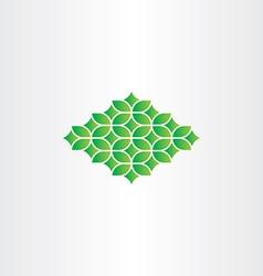Spring green pattern design element vector