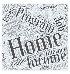 Stay At Home Parent s Income Word Cloud Concept vector