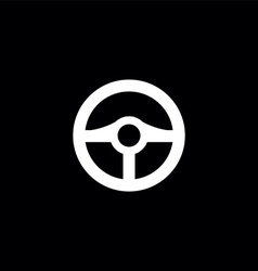 Steering wheel symbol vector