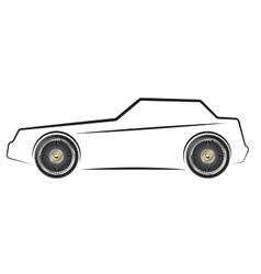 stylized image car vector image