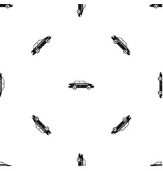 taxi pattern seamless black vector image