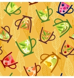 Teacups Pattern vector