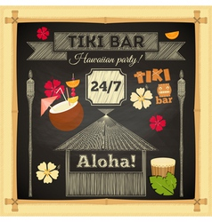 tiki chalk bar vector image