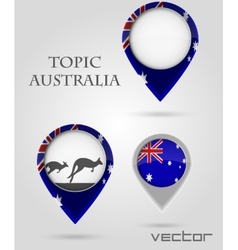 Topic australia Map Marker vector image