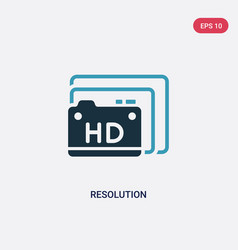 Two color resolution icon from photography vector