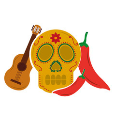 Viva mexico traditional card vector