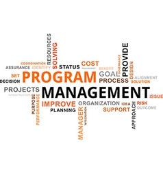 word cloud program management vector image