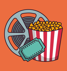 cinema related icons vector image vector image