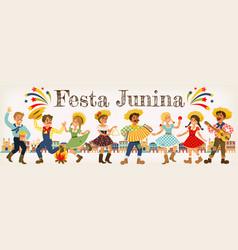 festa junina brazil june festival folklore holiday vector image vector image