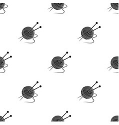 knittingold age single icon in black style vector image