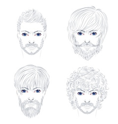 Male Fashion Hairstyles vector image
