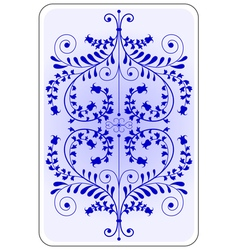 Poker playing card backside blue vector image
