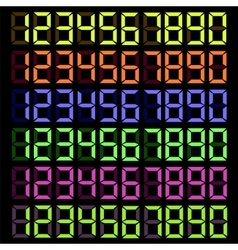 Set of Colorful Digital Numbers vector image
