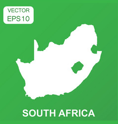 south africa map icon business concept south vector image