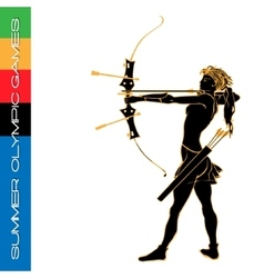 Summer Olympic games archery silhouettes vector image vector image