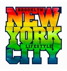 New York Sport T-shirt Design - vector image vector image