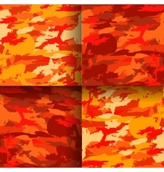 Set of 4 fashion camouflage patterns vector