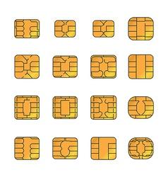 Sim card set vector image