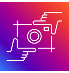 camera icon photography logo and hands vector image