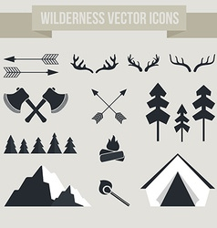 Camping Elements vector image