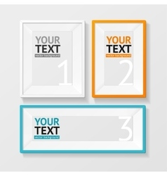 colorful picture frame option banner vector image