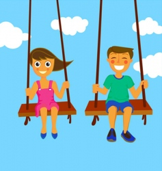 couple kids vector image