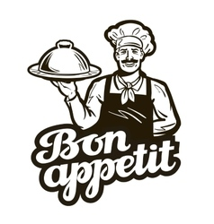 diner bistro logo dish food or cook icon vector image vector image