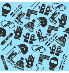 Hand drawn winter sports pattern vector image