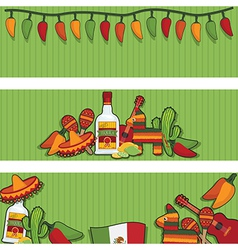 mexican banners vector image