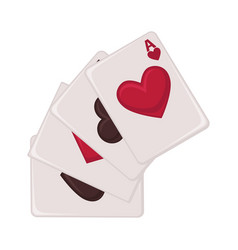 playing cards raw of all suits isolated vector image