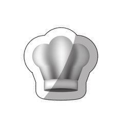 Realistic silhouette sticker of chefs hat vector