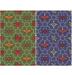 seamless chinese traditional buddhist pattern vector image vector image