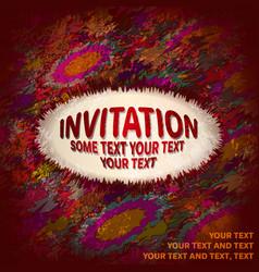 abstract invitation card vector image