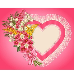 Cute valentine card vector image