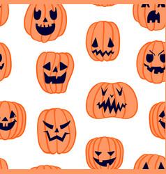 halloween scary pumpkin pattern 5 vector image