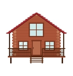 log cabin icon vector image