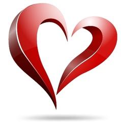 Logo heart shape design vector