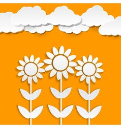 paper sunflowers vector image