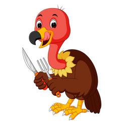vulture bird cartoon vector image vector image
