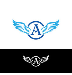 A latter and wings logo suitable for your company vector