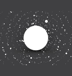abstract circle dots black and white background vector image