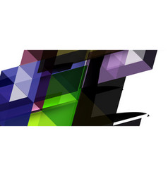 abstract concept triangle graphic element vector image