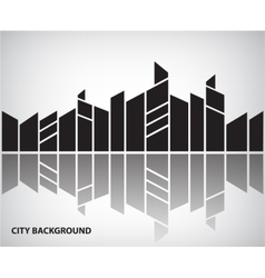 Abstract silhouette city background vector