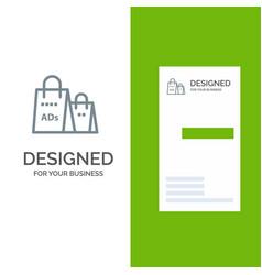 Advertising bag purse shopping ad shopping grey vector