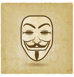 Anonymous mask on grunge background vector