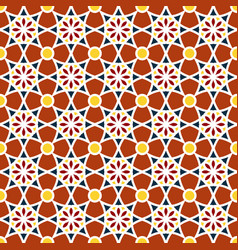background with seamless pattern in colorful islam vector image