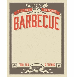 Backyard Barbecue Invitation vector
