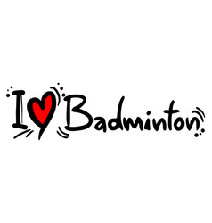 badminton love vector image