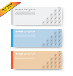 Banners with abstract cubes template vector