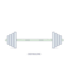 barbell weight training equipment vector image
